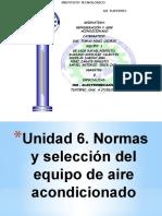 normas y selección de equipo de aire acondicionado