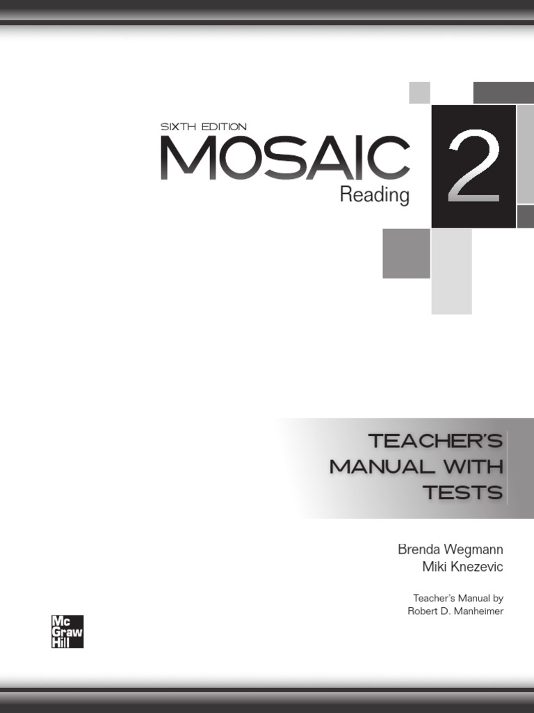 Mosaic 1 Ing Teacher Book