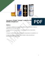 Bebidas Energeticas(Energy Drinks)