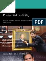 presidential credibility - juan ramirez