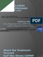 Gulf War Illness CDMRP Presentation to the IOM CDMRP Panel - Anthony Hardie