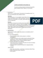 PATOLOGIA - CALCIFICACIONES PATOLÓGICAS