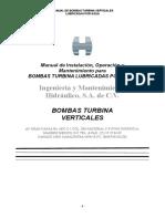 Manual de Instalación, Operación y Mantenimiento a Bombas Tipo Turbina Vertical
