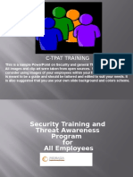 Security and Threat Awareness Training