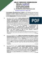 Vacancies in FPSC