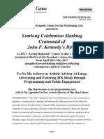 Kennedy Center Schedule