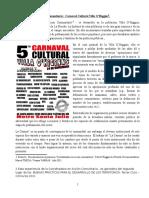 Coordinadora En Acción Comunitaria y Carnaval Cultural de Villa O´Higgins - Reseña