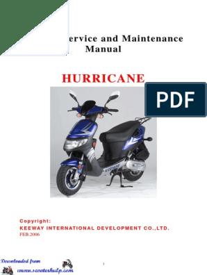 Keeway Hurricane 50cc Service Manual | Carburetor | Ignition