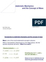 Introduction to Relativistic Mechanics and the Concept of Mass