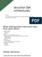 4 Instruction Set Architectures