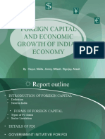 Foreign Capital and Economic Growth of India