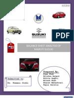 Maruti Suzuki - Balansheet Analysis