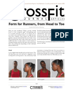 Form for Runners From Head to Toe