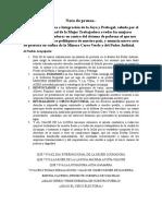Nota de Prensa FRENTE