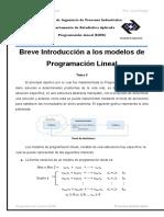 Introduccion a Los Modelos de PL y Metodo Grafico