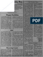 """""""Happy Earthday"""" - Sun editorial on the first Earth Day"""