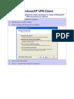 WindowsXP VPN Client