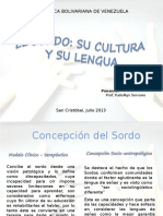 El Sordo Su Cultura y Su Lengua