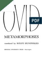 READ Ovid Metamorphoses - Orpheus