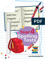 Year 4 Spelling Tests 0