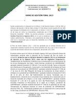 Informe de Gestión Final 2015