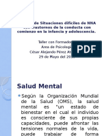 Manejo de Situaciones Difíciles de NNA Con Trastornos