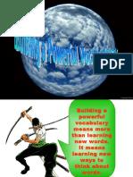Building Powerful Vocabulary