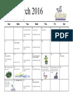 march16 calendar