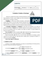 Material de Reflexões Linguísticas N1 1EM Fonética e Fonologia Prof Belkis 2013