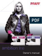 PFAFF Ambition 1.0 & 1.5 Manual