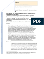 [Nicotine] Effects of Developmental Nicotine Exposure in Rats on Decision Making in Adulthood
