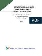 PDRB Prov. Papua Barat Menurut Lapangan Usaha 2008