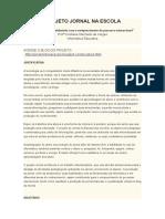 Projeto Jornal Na Escola