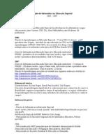 Dados Projeto de Informática na Educação Especial