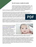 desarrollo de un bebe de 6 meses y medio de nacido