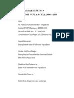 Analisis Kemiskinan Prov. Papua Barat 2006 - 2009