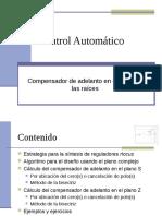 Control Automatico Compensador Adelanto Rlocus