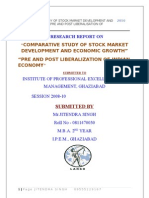 Comarative Study of Capital Market Development and Economic Growth,Pre and Post Liberalization of Indian Economy