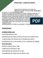 II STAGE INTERNACIONAL CIUDAD DE HUELVA INFORMACION