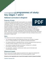 primary computing national curriculum