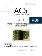 Advanced Control Systems - MCB-4B User's Manual - Revision 1.1
