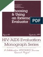 Choosing and Using an External Evaluator