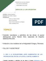 Análisis de poemas de la Lira Argentina