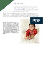 Desarrollo de un bebe de 6 meses