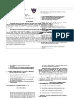 Prueba de Diagnóstico Para Tercero Medio 2012