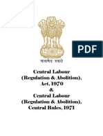 Central Labour (Regulation & Abolition), Act, 1970