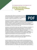 1972 - Normas Pastorales Sobre La Absolución General