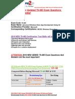 [2016 Mar. Latest]Braindump2go Latest 70-485 PDF 131-140