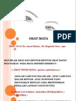 Teknik Sediaan Farmasi Obat Mata