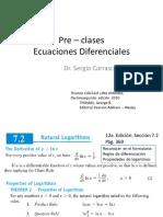 Clases Ecuaciones Diferenciales